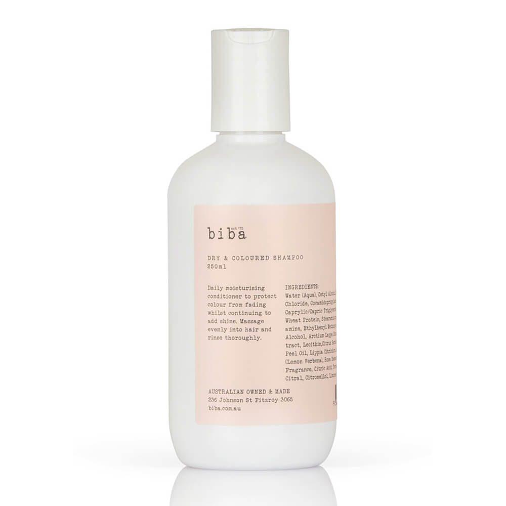 biba dry & coloured shampoo 250ml